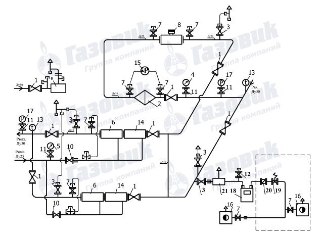 Оптимус-А0671-1000 с СГ-ЭК-Вз-0.5-40/1.6 с ППД (1:65),согласно схемы